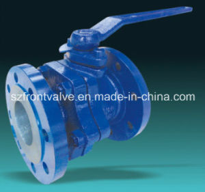 Cast Iron Flanged End Ball Valve with ISO5211 Mounting Pad pictures & photos