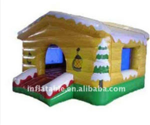 Inflatable Yellow Christmas Bouncer House with Slide pictures & photos