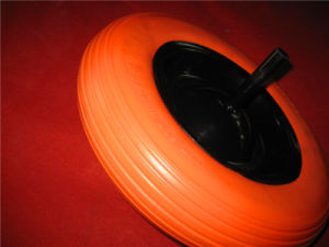 Flat Free Tire Solid PU Foam Rubber Wheel pictures & photos