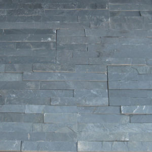China Black Slate Cultured Wall Stone pictures & photos