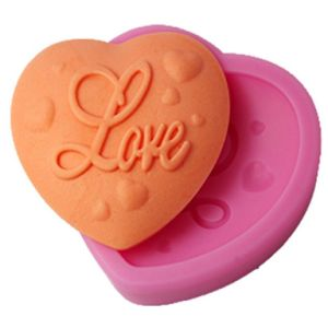 Cake Mold Love Heart Decor Silicone Mould Pink pictures & photos