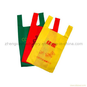 2016 Hot Sale! Non Woven Flat Bag Making with Online Handle Attach Machine (4-IN-1) pictures & photos