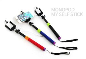 2015 Dk-015 New Best Seller Colorful Wired Camera Monopod Selfie Stick with Cable.