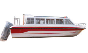 28feet Fiberglass Water Taxi Passenger Ferry Boat with Cabin (Aqualand 860) pictures & photos