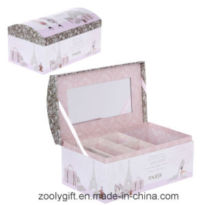 Printing Paper Cosmetic Box / Jewellry with Mirror and Lock pictures & photos