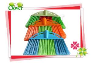 Plastic Straight Steel Hanle Floor Broom Set pictures & photos