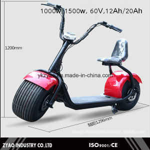 E-Scooter City Coco 2 Wheels Electric Motorcycle 1500W Adult City Scooter Ce pictures & photos