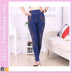 Yiwu Factory Direct New Lady Korean Slim Denim Leggings pictures & photos