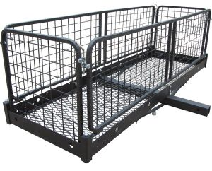 Hitch Mount Cargo Carrier Folding Rear Basket Carrier pictures & photos