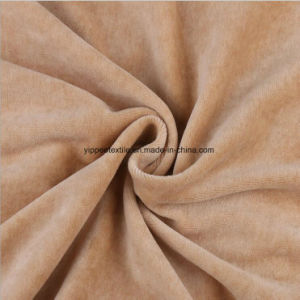 100%Cotton Knitted Velour Fabric pictures & photos