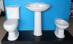 Washdown Two Pieces Chaozhou Factory Ceramic Toilet Bowl for Bathroom pictures & photos