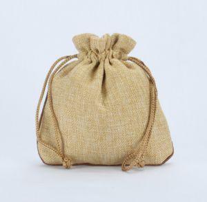 Customized Cheap Natural Jute Drawstring Bag pictures & photos