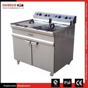 Double Commercial Electric Deep Fat Fryer Dzl-96V pictures & photos