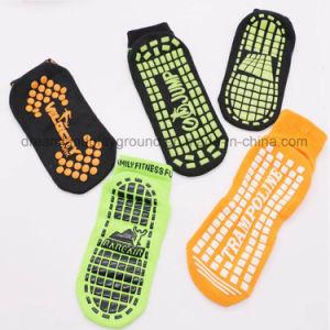 Digital Printed Anti-Slip Custom Indoor Trampoline Bounce Compression Socks pictures & photos