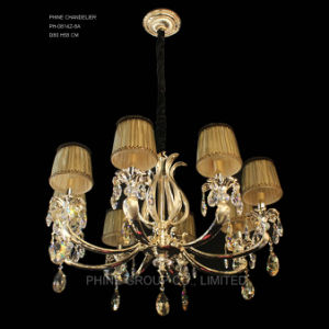 Phine pH-0814z 8 Arms Modern Swarovski Crystal Decoration Pendant Lighting with Fabric Shade Fixture Lamp Chandelier Light pictures & photos