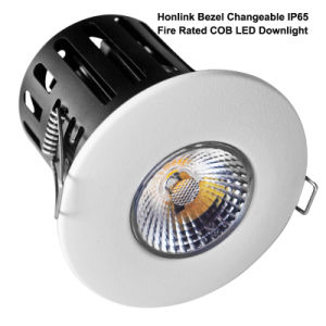 IP65 10W Fire Rated Recessed COB LED Downlight with Bezel Changeable pictures & photos