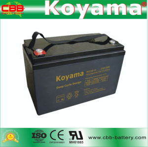 DC110-12 12V 110ah Lead Acid Deep Cycle AGM Battery pictures & photos