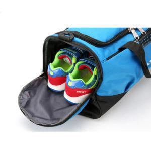 New Arrival Men Blue Jacquard Waterproof Travel Duffel Sports Bag pictures & photos
