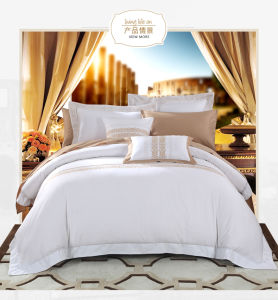 Italian Hotel Satin Stitch White Duvet Cover Traditional Duvet Covers pictures & photos