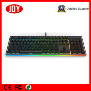 Colorful LED Backlight Computer Mechanical Gaming Keyboard pictures & photos