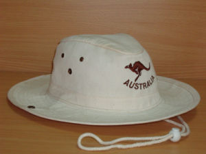 Cool Fasion Embroidered White Safari Hat pictures & photos