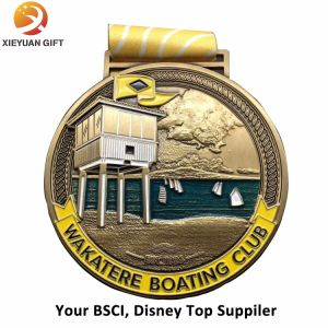 Die Casting Copper Swimming Medal with Engraved Logo (XY100607) pictures & photos