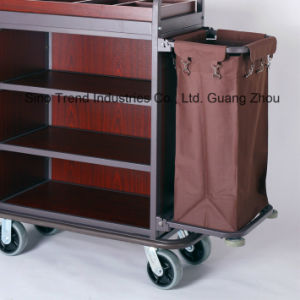 Wooden Housekeeping Cart for Hotel Guest Room Cleaning (SITTY 99.9803) pictures & photos