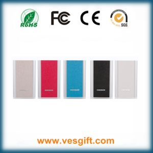 Real Leather 4000mAh Ultra-Thin Power Bank Phone Charger pictures & photos