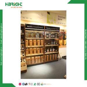 Supermarket Wooden Wine Display Shelf pictures & photos
