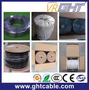 Coaxial Cable RG6 with Black PVC 75ohm pictures & photos