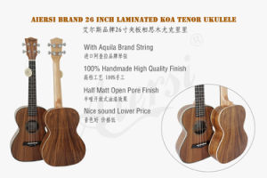High Quality Low Price Solid Koa Ukulele Made in China pictures & photos