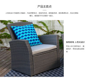 High-Grade Rattan Sofa with Garden pictures & photos
