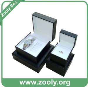 PU Leather Watch Gift Box / Black Ring Box / Jewelry Packaging Box pictures & photos