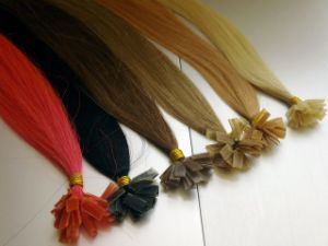 Tangle and Shedding Free European Remy Flat Tip Hair Extension pictures & photos