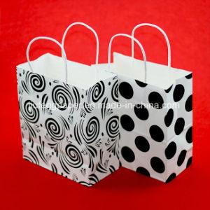 Printed White Kraft Paper Handbag pictures & photos