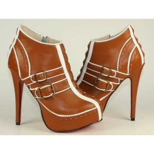 Fashion High Heel Leather Ankle Women Boots (HCY02-317)