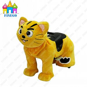 Indoor Outdoor Battery Fun Electric Plush Cat Animal Family Zippy Rides for Sale pictures & photos