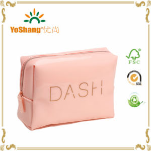 Factory Sale Popular Quality Glossy PVC Cosmetic Bag with Pink Color pictures & photos