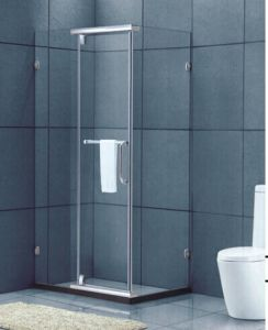 Bathroom Tempered Glass Staniless Steel Frame Glass Shower Room (H016C) pictures & photos