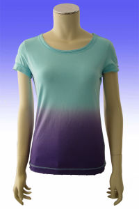 Ladies Pink Round Neck T-Shirt pictures & photos
