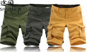 2015 Men Design Heavy Washed Cotton Cargo Six Pockets Shorts pictures & photos