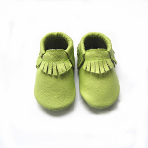 Handmade Genuine Leather Baby Shoes pictures & photos