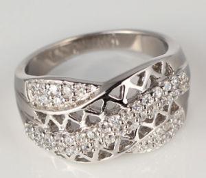 18k White Gold With Golden Diamond for Man (HZ132)