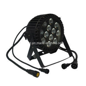 IP68 Waterproof Outdoor 12X10W RGBW LED PAR Stage Light with Slim Die Cast Alumminum Housing pictures & photos