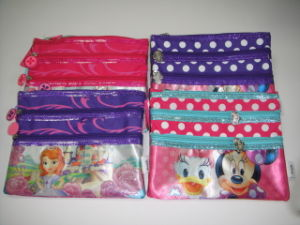 Polyester Princess or Minnie & Donald Duck Pencil Bag
