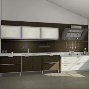 up Flat Open Gloss High Paint Kitchen Cabinet pictures & photos
