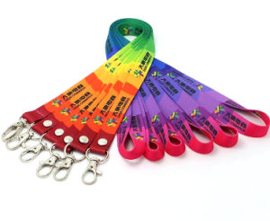Lanyard with Many Material (polyester nylon silk) pictures & photos