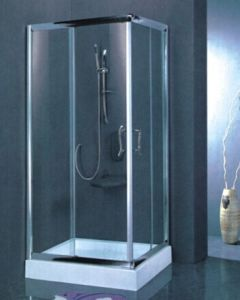 High Quality Australian Standard Tempered Clear Glass Simple Shower Enclosure with Stainless Steel Frame (H003) pictures & photos