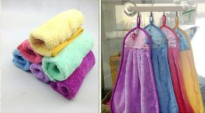 Beautiful Cotton Material Cleaning Kitchen Towel pictures & photos