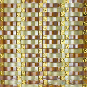Arch Wavy Brown Wall Mosaic Tile